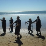 Tai Chi Sword by the sea