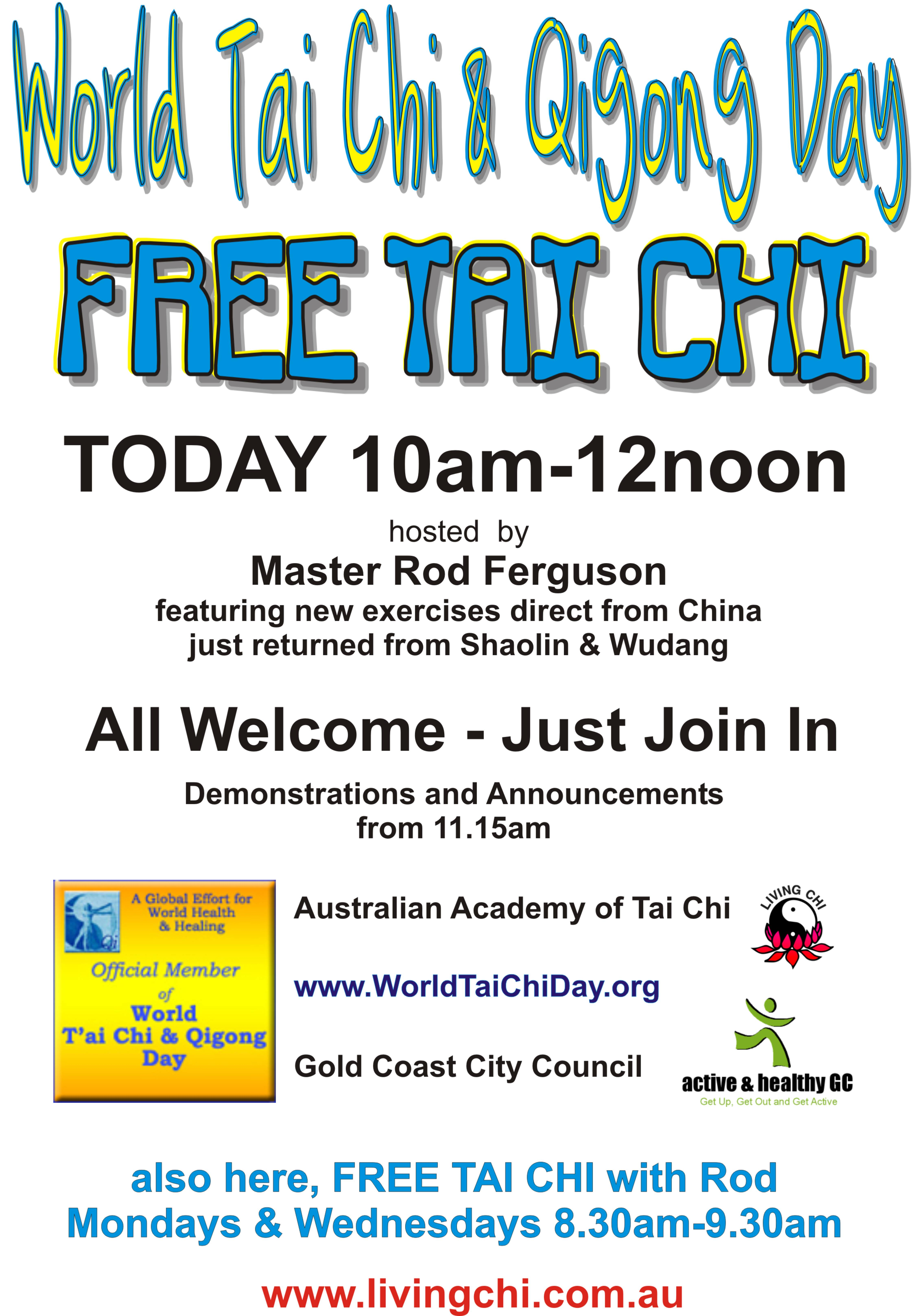 World Tai Chi Day 2011 - Australian Academy of Tai Chi and