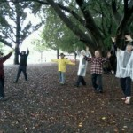 Tai Chi in raincoats - Brisbane
