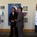 Grandmaster Khor thanks Councilor Greg Betts for supporting Tai Chi
