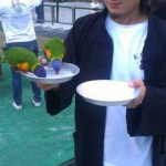 Master Zhou feeding the birds