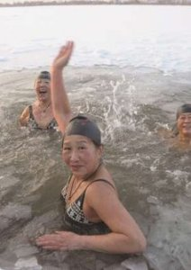 Ladies in Ice Water - Harbin China